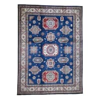 """Shahbanu Rugs Pure Wool Hand-Knotted Special Kazak Oriental Rug (10'2"""" x 13'9"""") - 10'2"""" x 13'9"""""""