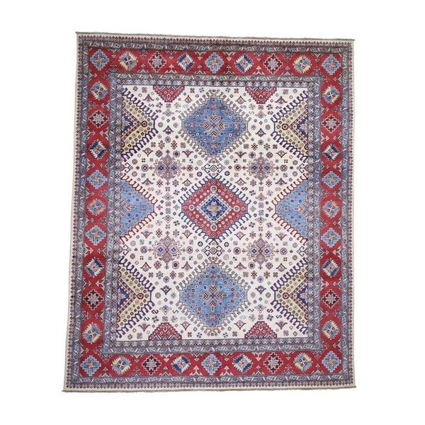 "Shahbanu Rugs Special Kazak Pure Wool Hand-Knotted Geometric Design Oriental Rug (8'0"" x 9'7"") - 8'0"" x 9'7"""