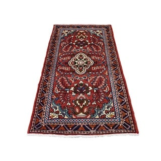 """Shahbanu Rugs New Persian Lilahan Pure Wool Hand-Knotted Oriental Rug (2'7"""" x 4'10"""") - 2'7"""" x 4'10"""""""