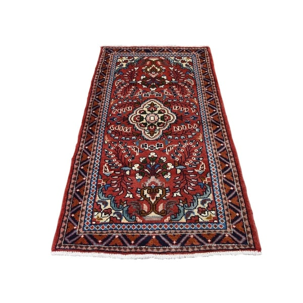 "Shahbanu Rugs New Persian Lilahan Pure Wool Hand-Knotted Oriental Rug (2'7"" x 4'10"") - 2'7"" x 4'10"""
