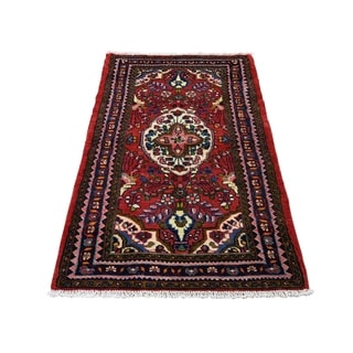 "Shahbanu Rugs New Persian Lilahan Pure Wool Hand-Knotted Oriental Rug (2'7"" x 4'4"") - 2'7"" x 4'4"""