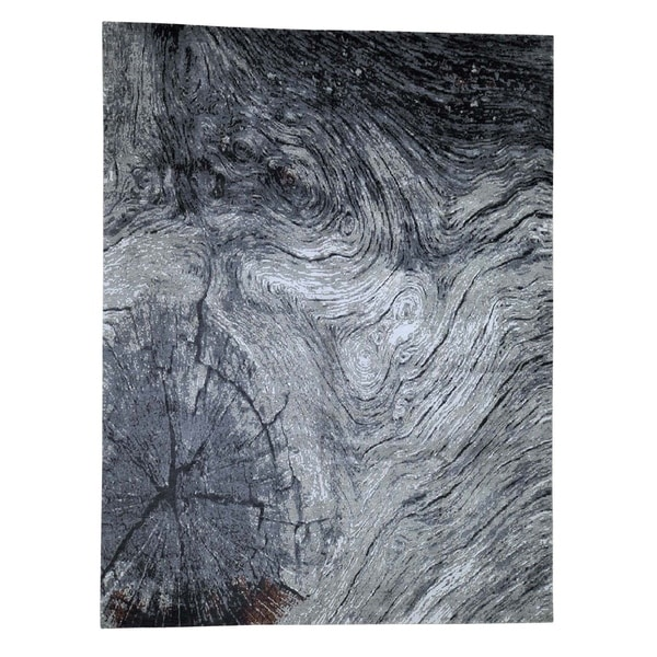 Shop Shahbanu Rugs Tree Bark Wool And Silk Abstract Design