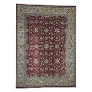 "Shahbanu Rugs Hereke Design Wool and Silk Hand-Knotted 300 Kpsi Oriental Rug  (9'2"" x 12'6"") - 9'2"" x 12'6"""
