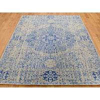 "Shahbanu Rugs Wool And Silk Mamluk Design Hand-Loomed Oriental Rug (5'0"" x 7'0"") - 5'0"" x 7'0"""