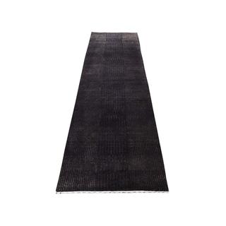 "Shahbanu Rugs Hand-Knotted Wool and Silk Tone-on-Tone Nepali Oriental Rug (2'3"" x 7'7"") - 2'3"" x 7'7"""