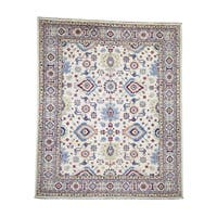 """Shahbanu Rugs Pure Wool Hand-Knotted Special Kazak Oriental Rug (8'2"""" x 9'9"""") - 8'2"""" x 9'9"""""""