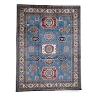 "Shahbanu Rugs Special Kazak Pure Wool Hand-Knotted Geometric Design Oriental Rug (10'4"" x 13'6"") - 10'4"" x 13'6"""