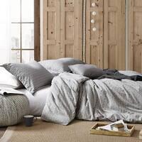 Porch & Den Andover Grey Yarn Died Cotton Oversized Duvet Cover Set