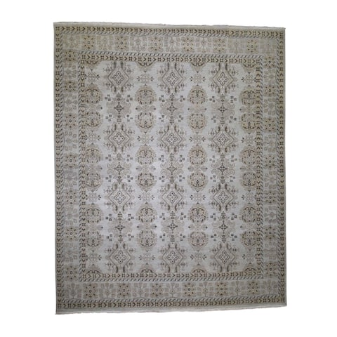 "Shahbanu Rugs Pure Wool And Sturdy Oushak Design Oversize Hand-Knotted Oriental Rug (12'0"" x 14'6"") - 12'0"" x 14'6"""