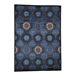 "Shahbanu Rugs Mamluk Design Art Silk With Oxidized Wool Hand-Knotted Oriental Rug (8'3"" x 11'5"") - 8'3"" x 11'5"""
