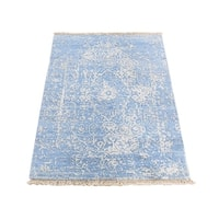 """Shahbanu Rugs Broken Persian Design Wool And Pure Silk Hand-Knotted Oriental Rug (2'2"""" x 3'0"""") - 2'2"""" x 3'0"""""""