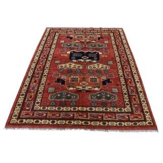 "Shahbanu Rugs Afghan Ersari Pure Wool Hand-Knotted Oriental Rug (4'5"" x 6'0"") - 4'5"" x 6'0"""