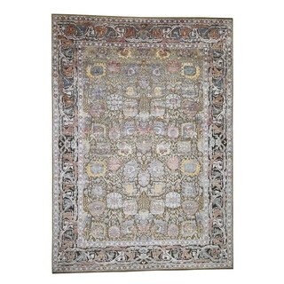 "Shahbanu Rugs Silk With Oxidized Wool Tabriz design Hand-Knotted Oriental Rug (10'0"" x 14'0"") - 10'0"" x 14'0"""