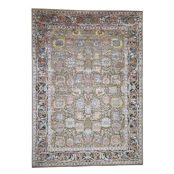 Shop Shahbanu Rugs Silk With Oxidized Wool Tabriz Design