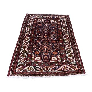 "Shahbanu Rugs Semi Antique Persian Bakhtiari Pure Wool Hand-Knotted Oriental Rug (2'10"" x 4'3"") - 2'10"" x 4'3"""