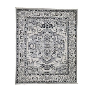 "Shahbanu Rugs Hand-Knotted Peshawar With Heriz Design Pure Wool Oriental Rug (8'1"" x 9'9"") - 8'1"" x 9'9"""