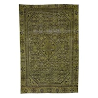 """Shahbanu Rugs Overdyed Persian Hussainabad Pure Wool Hand-Knotted Oriental Rug  (6'6"""" x 10'0"""") - 6'6"""" x 10'0"""""""