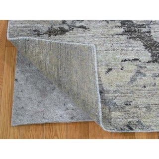 """Shahbanu Rugs Pure Wool Abstract Design Hand-Knotted Oriental Rug (8'0"""" x 10'0"""") - 8'0"""" x 10'0"""""""