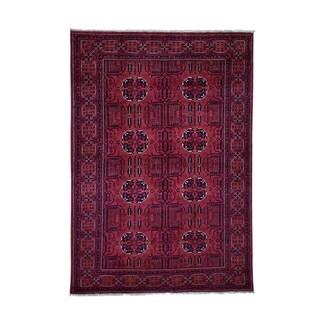 "Shahbanu Rugs Afghan Khamyab Pure Wool Hand-Knotted Oriental Rug (5'5"" x 7'8"") - 5'5"" x 7'8"""