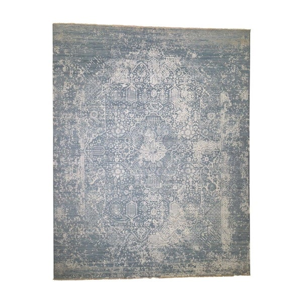 """Shahbanu Rugs Oversize Broken Persian Design Wool And Pure Silk Hand-Knotted Rug (12'0"""" x 15'1"""") - 12'0"""" x 15'1"""""""