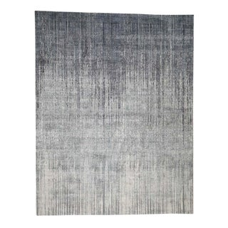"""Shahbanu Rugs Ombre Design Pure Silk Hand-Knotted Oriental Rug (8'0"""" x 10'4"""") - 8'0"""" x 10'4"""""""
