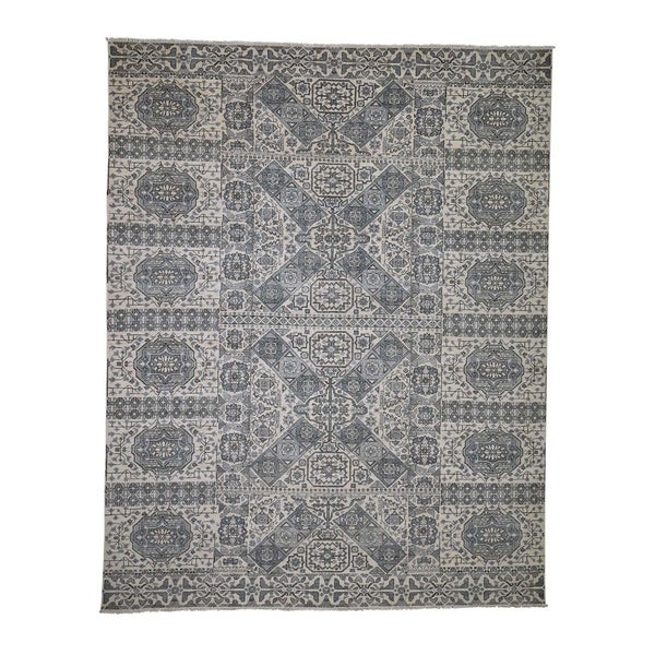 """Shahbanu Rugs Mamluk Design Hand-Knotted Undyed Natural Wool Oriental Rug (8'2"""" x 10'5"""") - 8'2"""" x 10'5"""""""