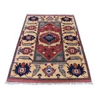 "Shahbanu Rugs Afghan Ersari Pure Wool Hand-Knotted Oriental Rug (3'5"" x 5'0"") - 3'5"" x 5'0"""