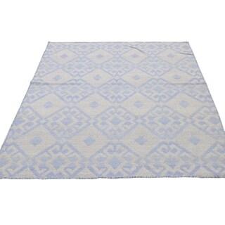 "Shahbanu Rugs Flat Weave Hand Woven Durie Kilim Reversible Oriental Rug (4'0"" x 6'0"") - 4'0"" x 6'0"""
