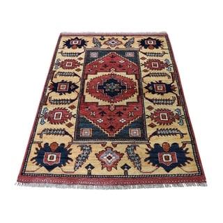 "Shahbanu Rugs Afghan Ersari Pure Wool Hand-Knotted Oriental Rug (3'4"" x 4'8"") - 3'4"" x 4'8"""