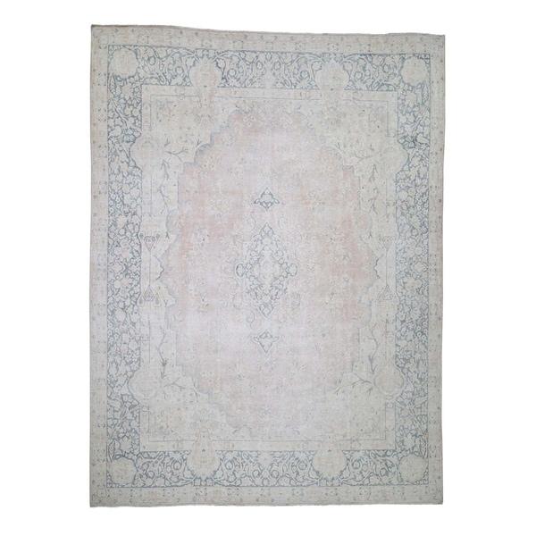 Shop Shahbanu Rugs White Wash Vintage Kerman Worn Wool