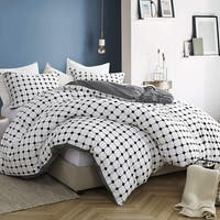 Moda Black and White Striped - Oversized Duvet Cover - 100% Cotton Bedding