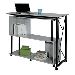Safco Mood Standing Height Desk with Rotating Work Surface - Gray