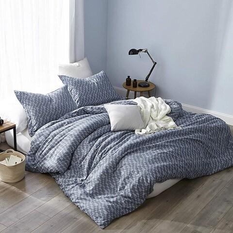 Navy Slate - Oversized Duvet Cover - 100% Yarn Dyed Cotton Bedding