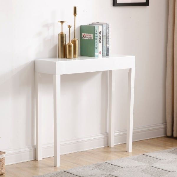 Modern Amy White Wood Console/Sofa Table