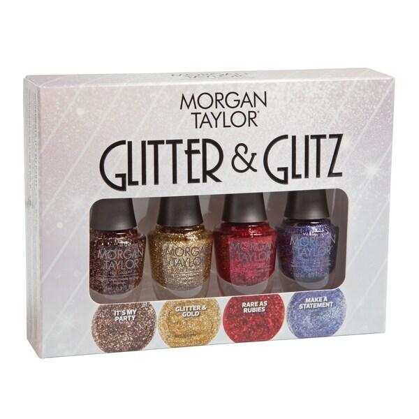 Morgan Taylor 4-piece Mini Nail Polish Kit Glitter & Glitz