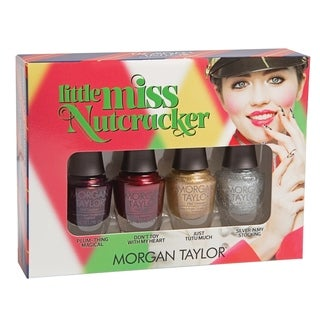 Link to Morgan Taylor 4-piece Mini Nail Polish Kit Little Miss Nut Cracker Similar Items in Nail Care