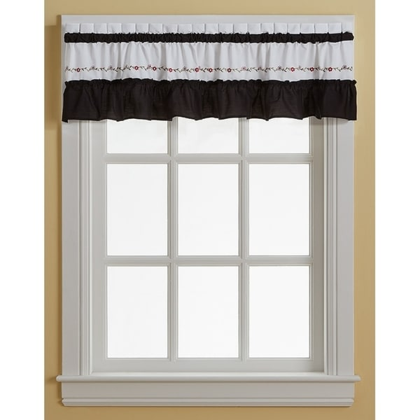 Jayden Ruffle Valance, Swag and Tier Pair Curtain Collection