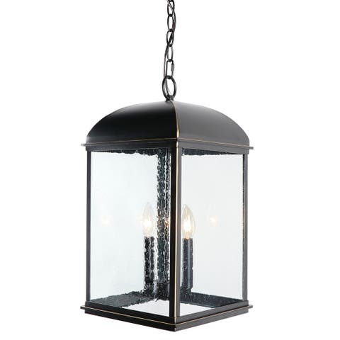 2 Light Outdoor Hanging Lantern in Imperial Black