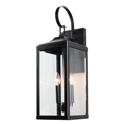 2 Light Outdoor Wall Lantern in Imperial Black