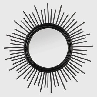 Jasmine Black Starburst Wall Mirror