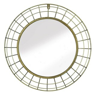 Meridon Contemporary Round Wall Mirror - Gold
