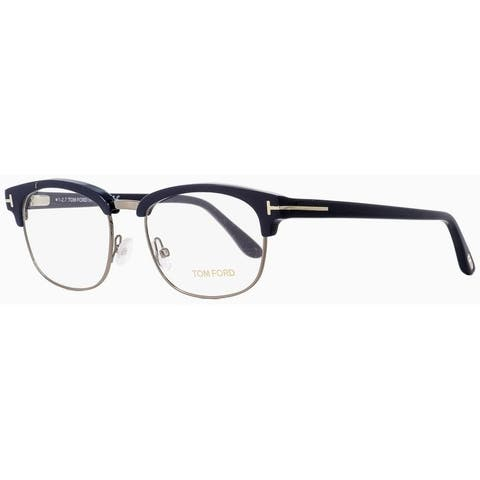 Tom Ford TF5458 090 Mens Dark Blue/Dark Ruthenium 53 mm Eyeglasses - Dark Blue/Dark Ruthenium