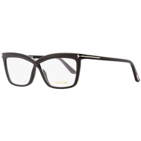 cf39739da29 Shop Tom Ford TF5470 001 Womens Black 55 mm Eyeglasses - Free Shipping  Today - Overstock - 27100309