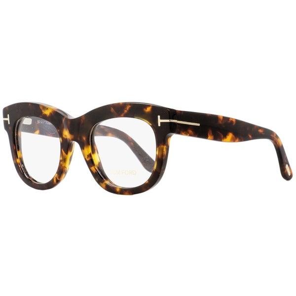 576204e807fc Shop Tom Ford TF5493 052 Womens Dark Havana 49 mm Eyeglasses - Dark Havana  - Free Shipping Today - Overstock - 27100313