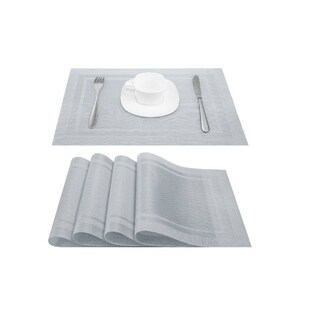 Silver Stain Resistant Place 18 x 12 Set of 4
