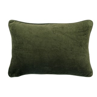 Moss Green Cotton Velvet Pillow Cover