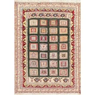 "Kilim Geometric Hand Woven Wool Persian Area Rug - 5'0"" x 3'6"""