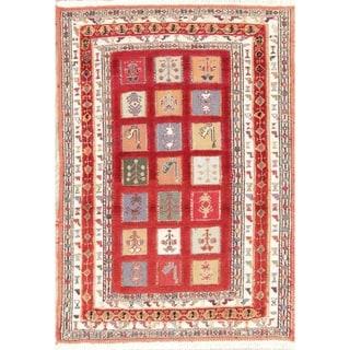 "Kilim Geometric Hand Woven Wool Persian Small Area Rug - 3'8"" x 2'7"""