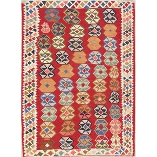 "Kilim Geometric Hand Woven Wool Persian Area Rug - 5'9"" x 4'2"""