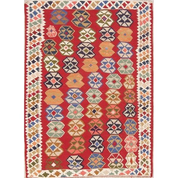 Camel Wool Rug Persian Rug Handwoven Kilim Area: Shop Kilim Geometric Hand Woven Wool Persian Area Rug
